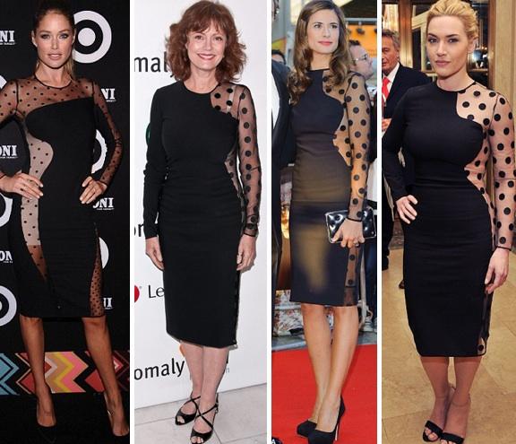 Susan sarandon sheer black dress